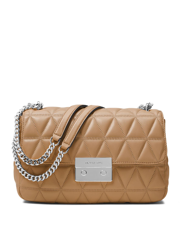 ad895da36eb6 MICHAEL Michael Kors Sloan Large Quilted Leather Shoulder Bag, Brown ...