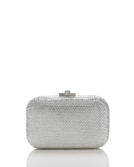 Judith Leiber Couture Crystal Slide-Lock Clutch Bag, Rhine