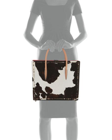 Paloma Large Calf Hair Mixed-Studs Tote Bag