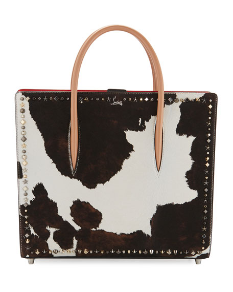 Christian Louboutin Paloma Large Calf Hair Mixed-Studs Tote