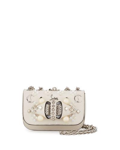 Sweet Charity Mixed-Stud Leather Crossbody Bag