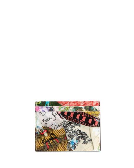 Kios Spikes Card Holder, Trash Print