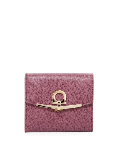 French Gancio Clip Wallet, Pink