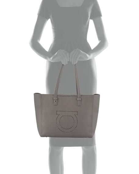 Large Perforated Tote Bag, Gray