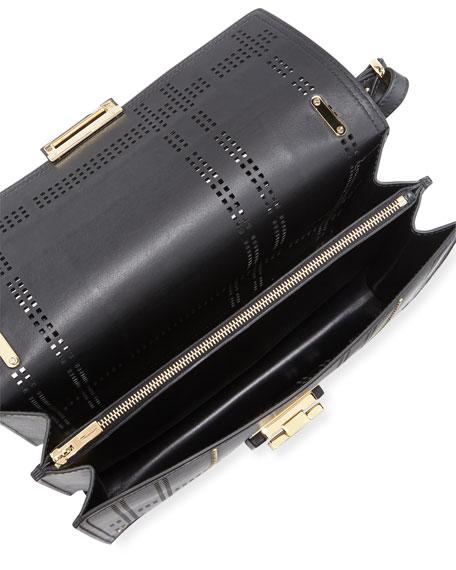 Large Grid Perforated Shoulder Bag