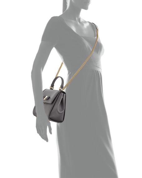 Carrie Vara Small Satchel Bag, Gray