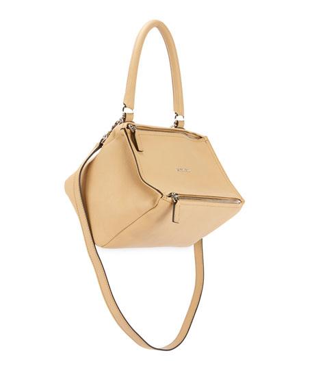 Pandora Small Sugar Leather Shoulder Bag, Black