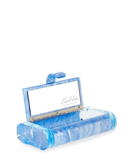 Lara Backlit Resin Clutch Bag, Blue