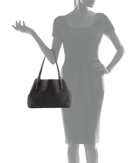 A-Shape Medium Woven Tote Bag