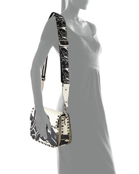 Rockstud Rolling Panther Shoulder Bag