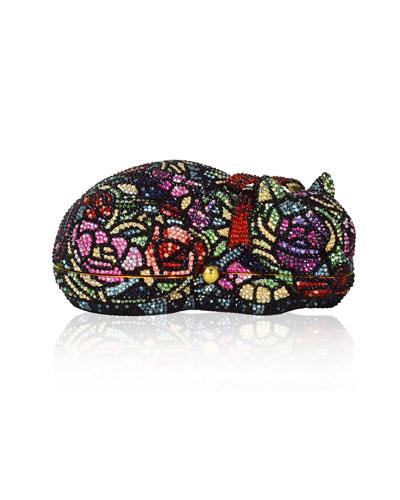 Sleeping Cat Rosie Crystal Minaudiere Clutch Bag