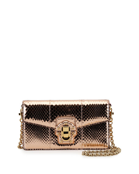 Dolce & Gabbana Lucia Laminated Ayers Shoulder Bag,