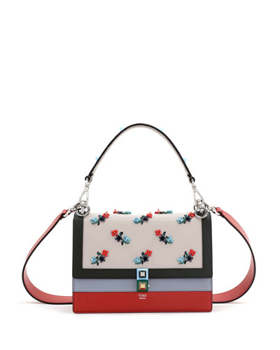 fendi bags outlet online ibyl  Kan I Beaded Flower Shoulder Bag, Multi