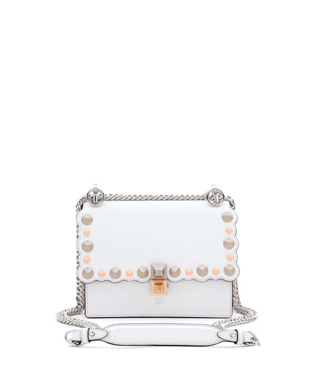 Fendi Kan I Mini Studded Shoulder Bag