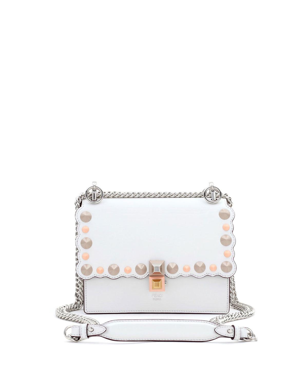 Fendi Kan I Mini Scalloped Studded Chain Shoulder Bag 27ba6243ce426