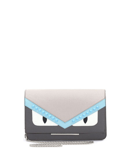 Fendi Monster Tube Wallet-on-Chain, Gray/Multi