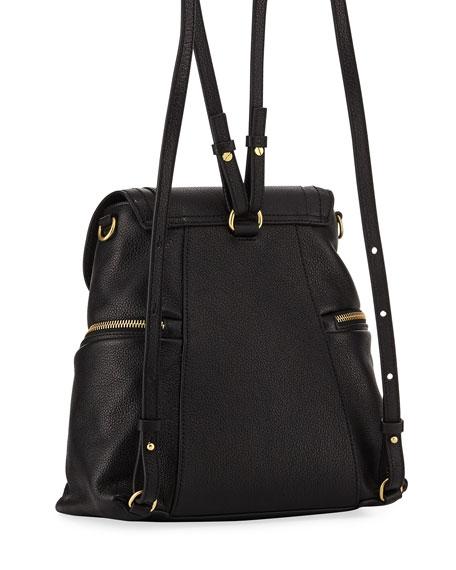 Olga Zip-Side Leather Backpack