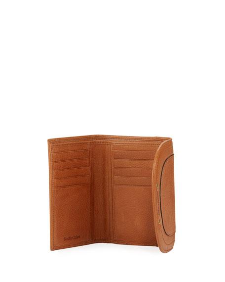 Tassel Flap Leather Wallet, Brown