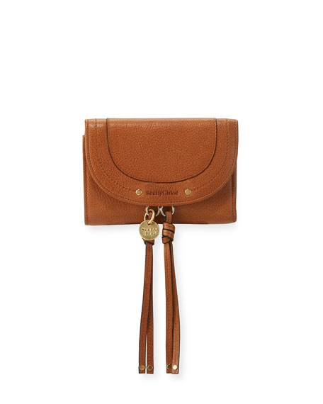 See by Chloe Tassel Flap Leather Wallet, Brown