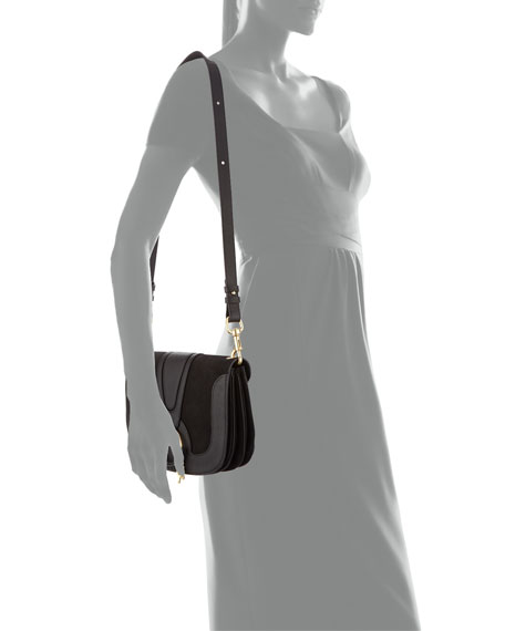 Hana Medium Goatskin Crossbody Bag