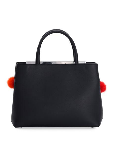 2Jours Petite Leather + Fur Dots Satchel Bag