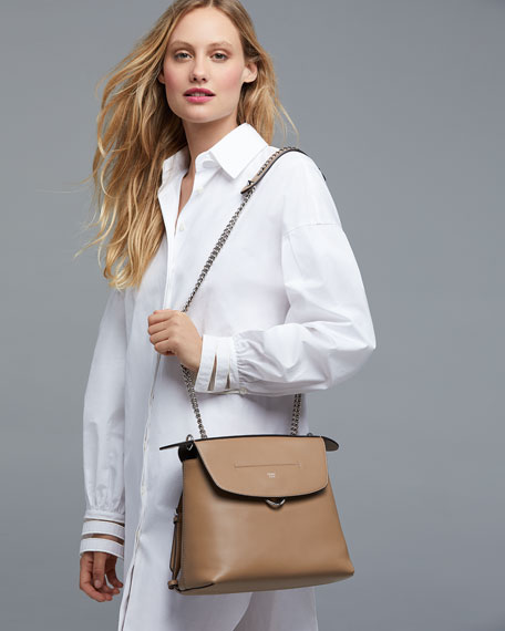 Back To School Large Leather Backpack/Crossbody Bag