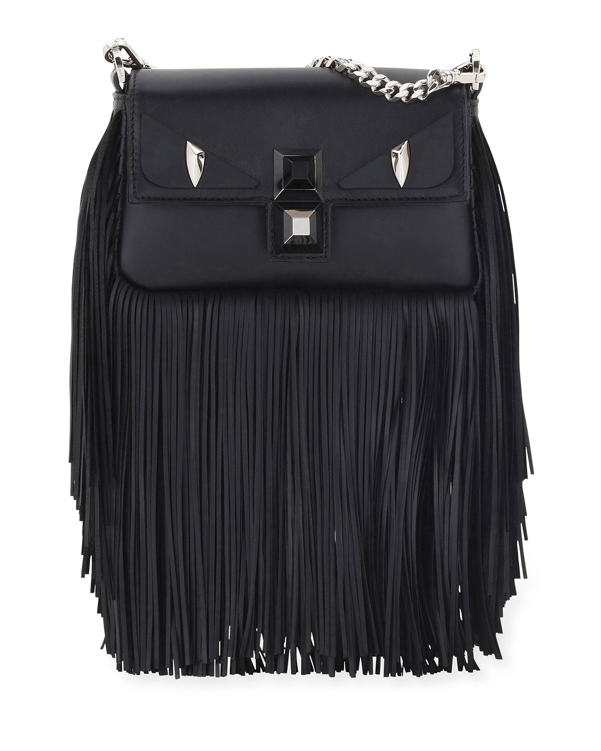 c25c4e1905 Fendi Baguette Monster Micro Fringe Shoulder Bag