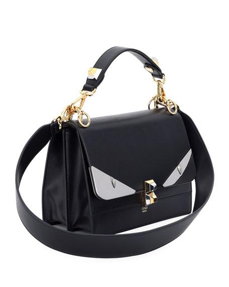 Kan I Monster Leather Shoulder Bag, Black
