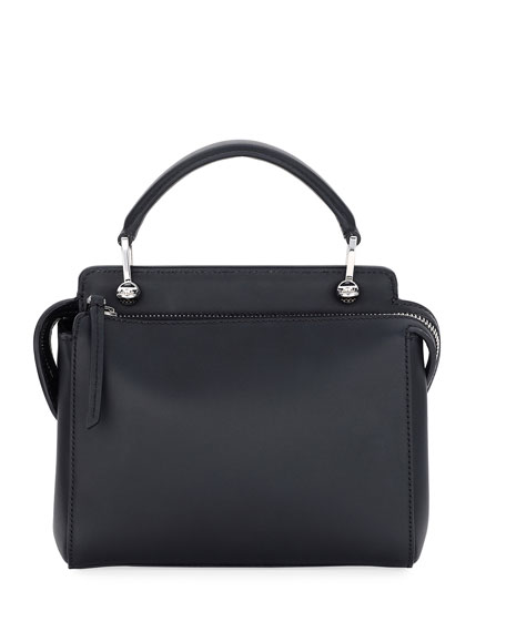 Dotcom Click Whipstitch Leather Shoulder Bag