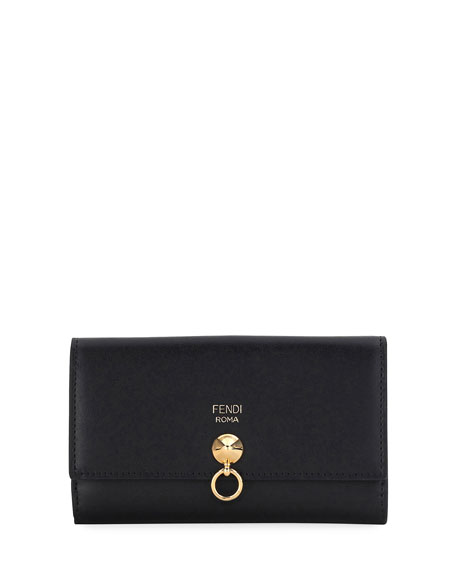 Fendi By The Way Continental Z-Fold Wallet, Black