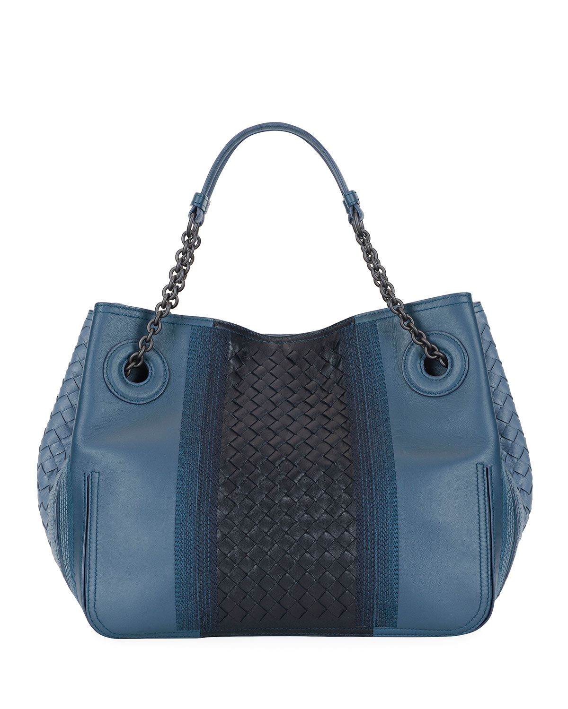 44711ac0a013 Bottega Veneta Double-Chain Intrecciato Tote Bag