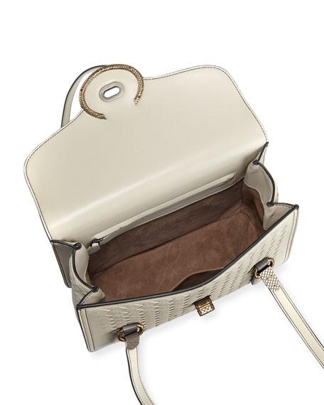 Double-Handle Intrecciato Shoulder Bag