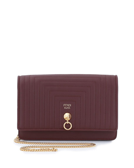 Fendi Dotcom Quilted Tube Wallet on a Chain