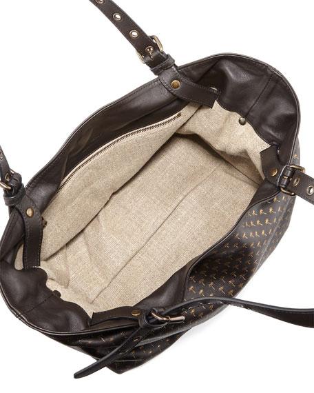 New Aragon Palms Small Tote Bag, Slate