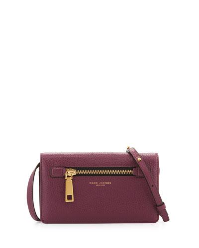 Gotham Leather Wallet-On-Strap, Iris