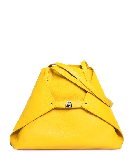 Akris Ai Medium Leather Shoulder Bag