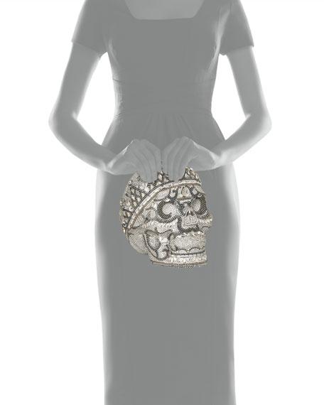 Katerina Crystal Skull Clutch Bag