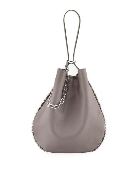 Roxy Refined Pebbled Hobo Bag, Gray