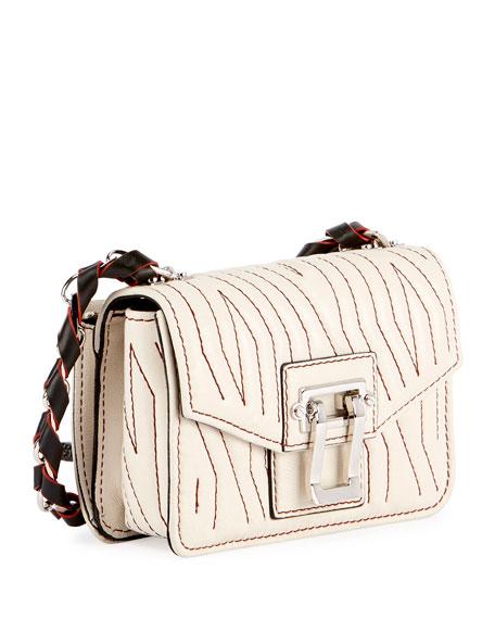 Hava Woven Crossbody Bag, Off White