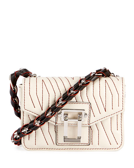 Proenza Schouler Hava Woven Crossbody Bag, Off White
