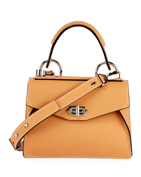 Proenza Schouler Hava Small Leather Top-Handle Satchel Bag,