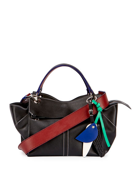 Proenza Schouler Curl Smooth Leather Satchel Bag