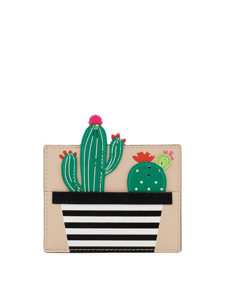 scenic route cactus card case, multi