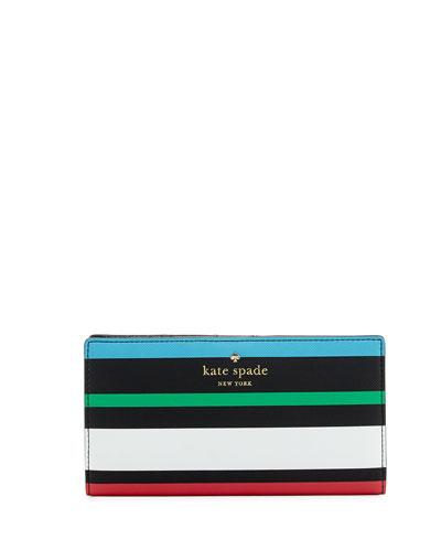 stacy harding street fiesta striped wallet, black