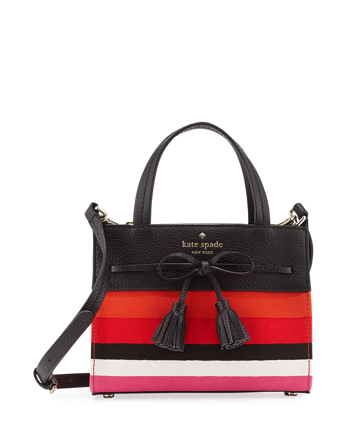 f9651f968fa1 kate spade new york hayes street isobel mini striped bag, pink/multi ...