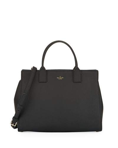 dunne lane lake leather tote bag, black