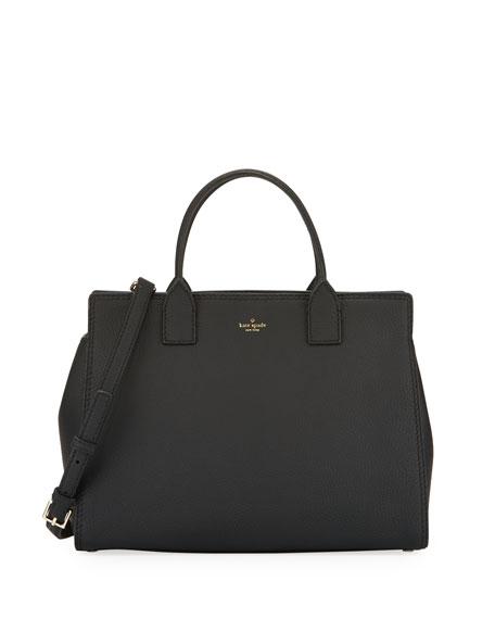 dunne lane lake leather tote bag, black