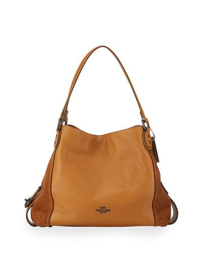 Edie 31 Leather Shoulder Bag, Caramel