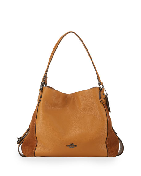Coach Edie 31 Leather Shoulder Bag, Caramel