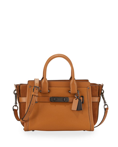 Coach Swagger 27 Leather Satchel Bag, Caramel